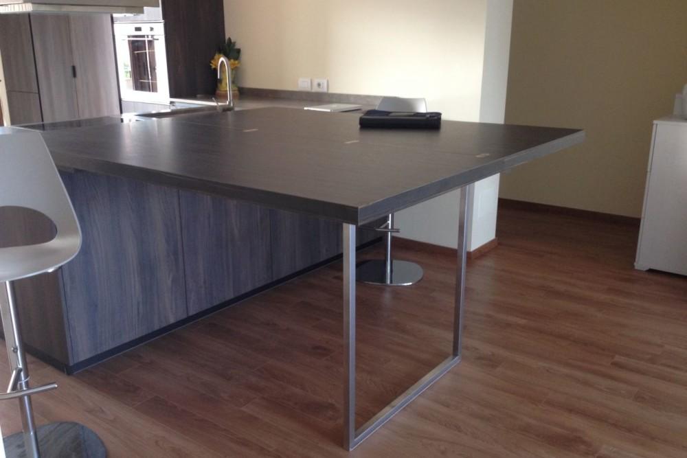 Prolunga tavolo cucina in legno geppetto falegname verona for Prolunga tavolo