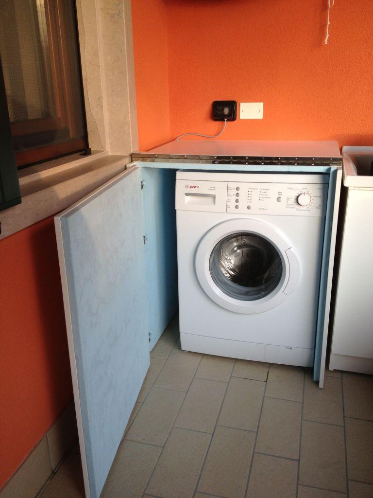 Mobile Da Esterno Per Lavatrice mobile lavatrice in legno per esterno - geppetto falegname